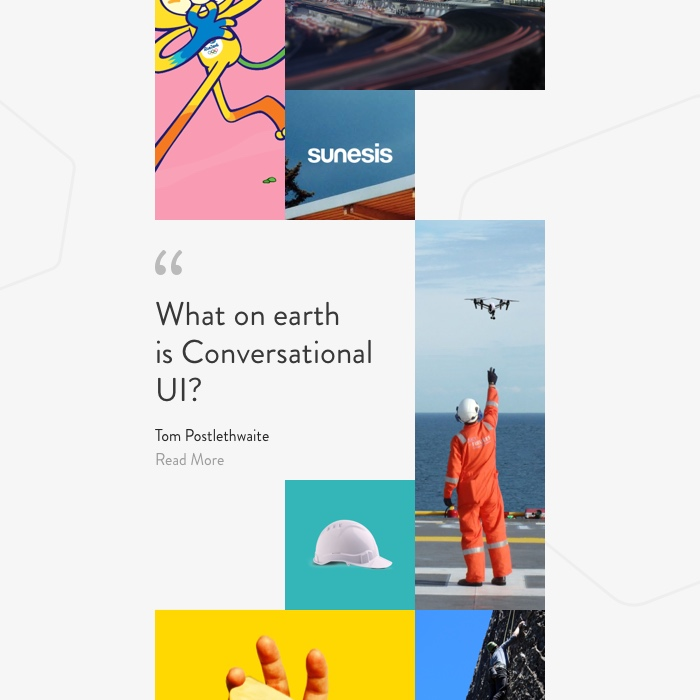 CUI Design Experiment - Content feed