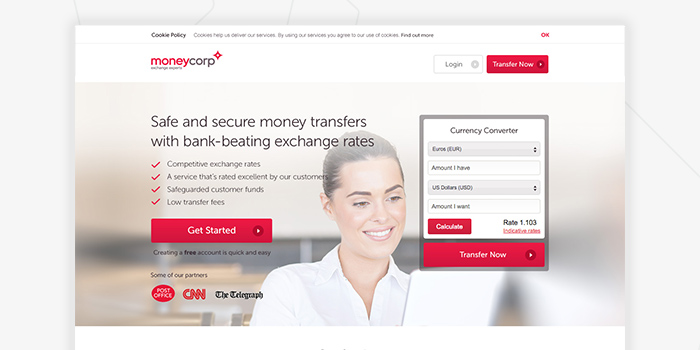 Moneycorp - PPC landing page